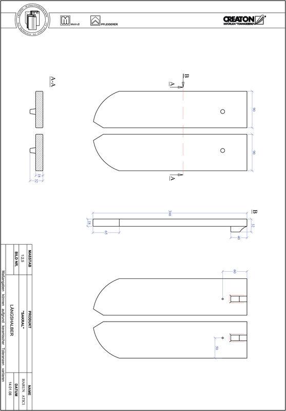 Fiser CAD produs SAKRAL decupaj rotund RUND-LH