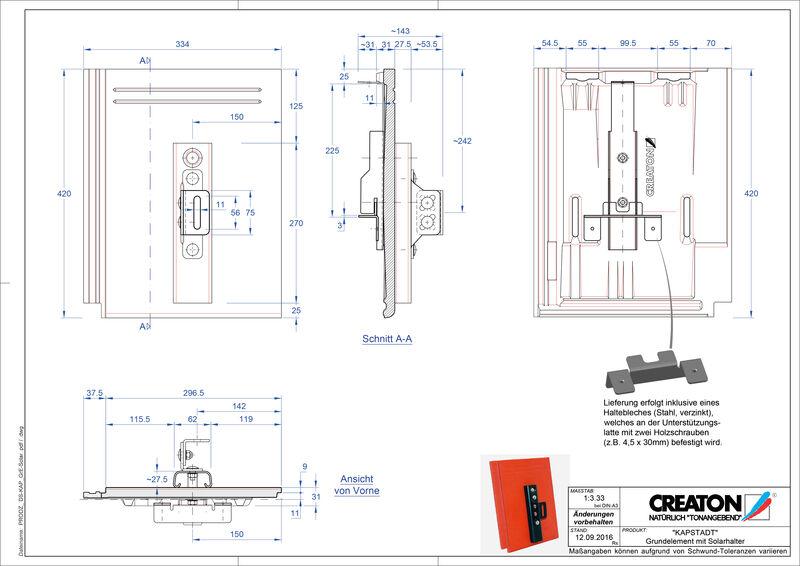 Fiser CAD produs KAPSTADT Element Solar