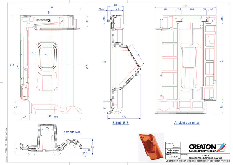 Fiser CAD produs TITANIA Antenă ANTENNE