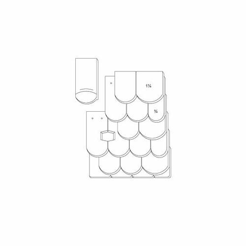 Desen tehnic produs KLASSIK OGAusbildung-Doppeldeckung-3-4-1-1-4-Traufziegel
