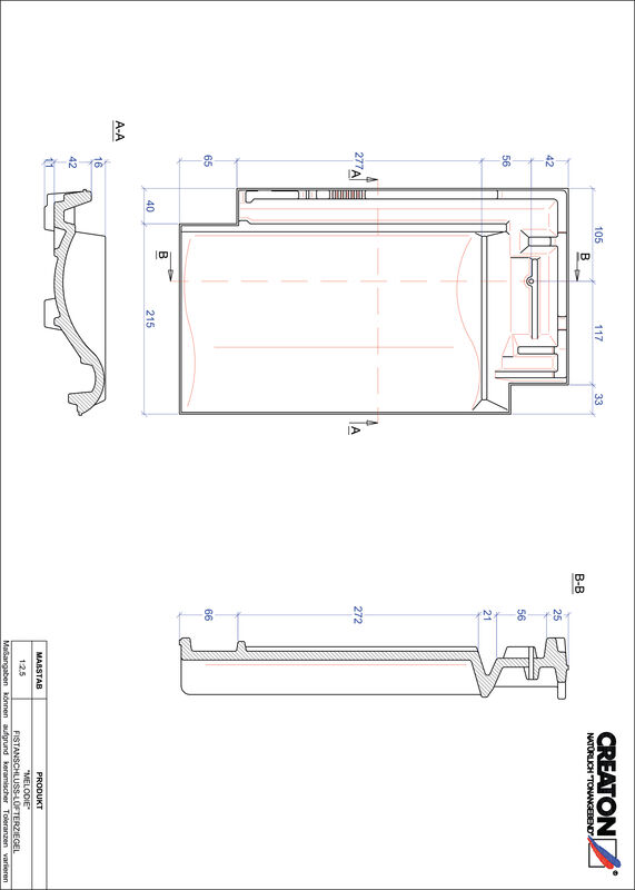 Fiser CAD produs MELODIE Ţiglă aerisire pentru conexiune la coamă FALZ