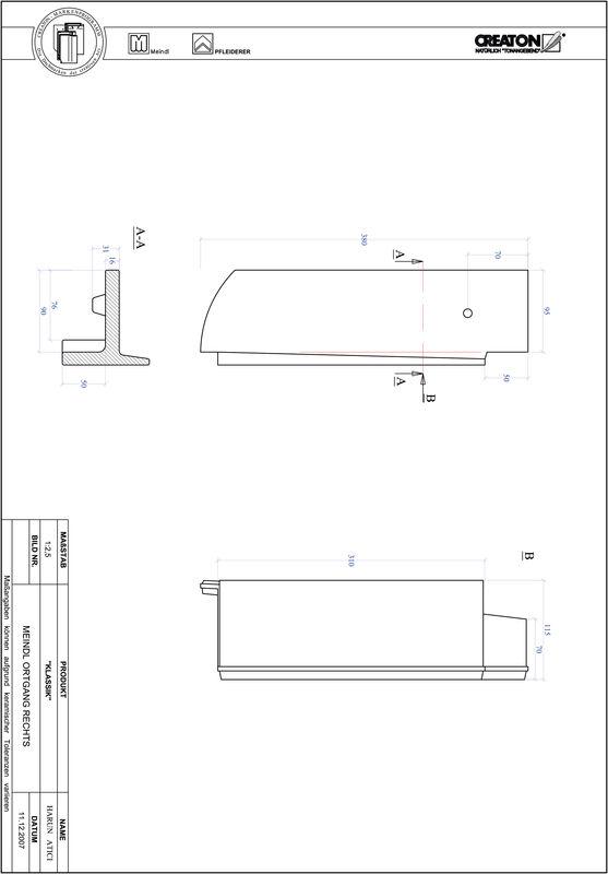 Fiser CAD produs KLASSIK decupaj rotund RUND-OGR