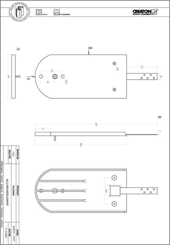 Fiser CAD produs KLASSIK decupaj rotund RUND-GRUNDALU