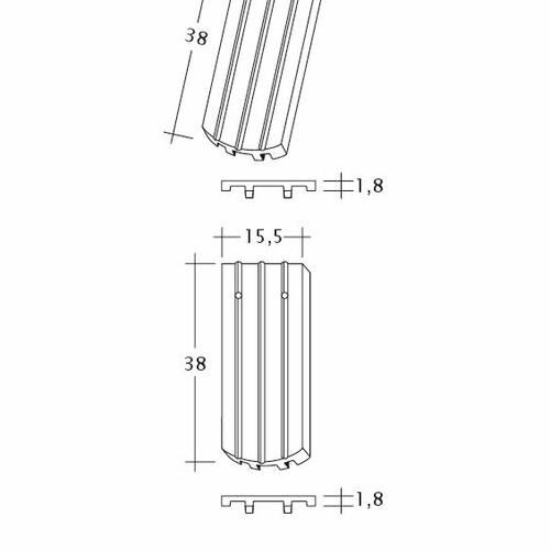 Desen tehnic produs PROFIL Kera-Saechs-15cm-FlaechenLUEFTZ