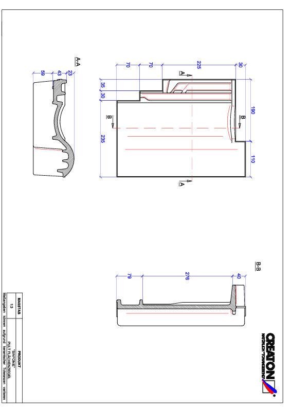 Fiser CAD produs SINFONIE Ţiglă cu versant standard PULT