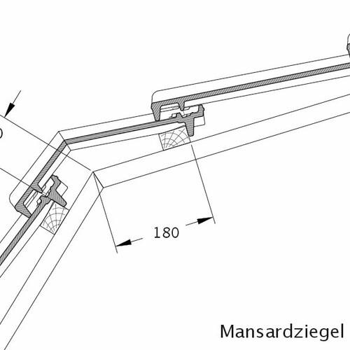 Desen tehnic produs CANTUS Ţiglă cu versant MAZ