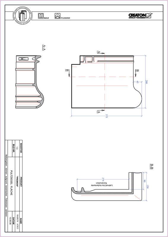 Fiser CAD produs PREMION Ţiglă cu versant standard PULT