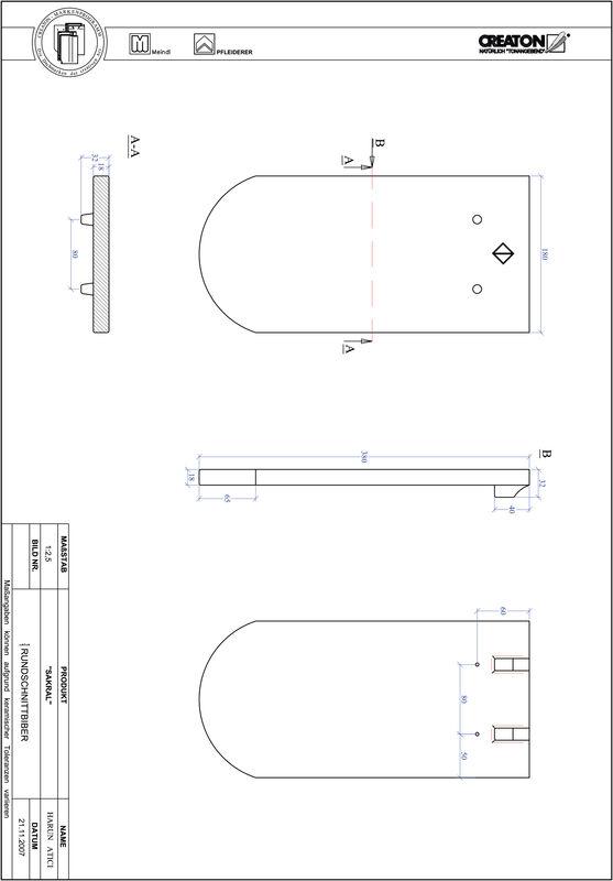 Fiser CAD produs SAKRAL decupaj rotund RUND-1-1