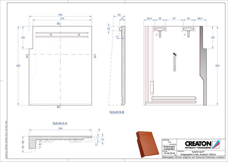 Fiser CAD produs KAPSTADT laterală stânga OGL-120