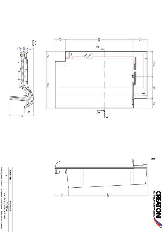 Fiser CAD produs FUTURA laterală dreapta OGR