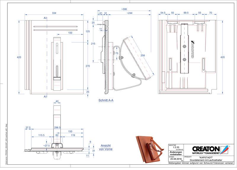 Fiser CAD produs KAPSTADT Element Laufrost