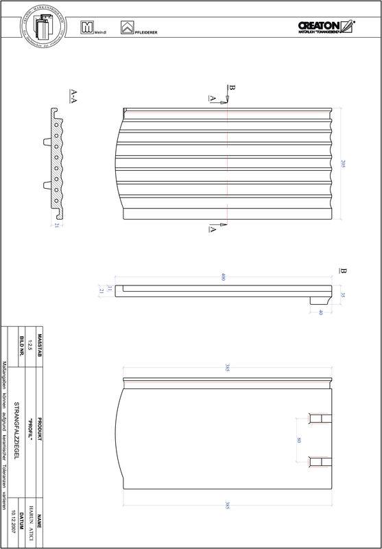 Fiser CAD produs PROFIL Taietura segment  STRANGFALZ-GEWELLT-1-1