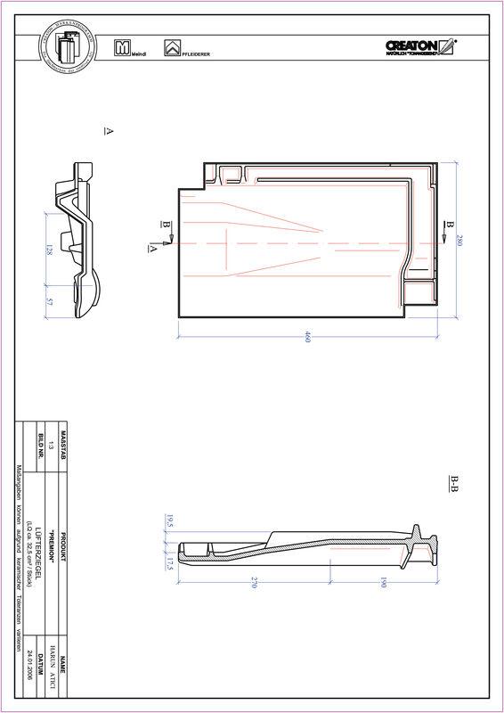 Fiser CAD produs PREMION Ţiglă de aerisire LUEFTZ