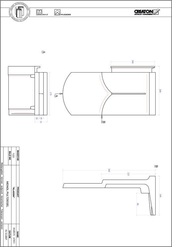 Fiser CAD produs KLASSIK decupaj rotund RUND-PULT