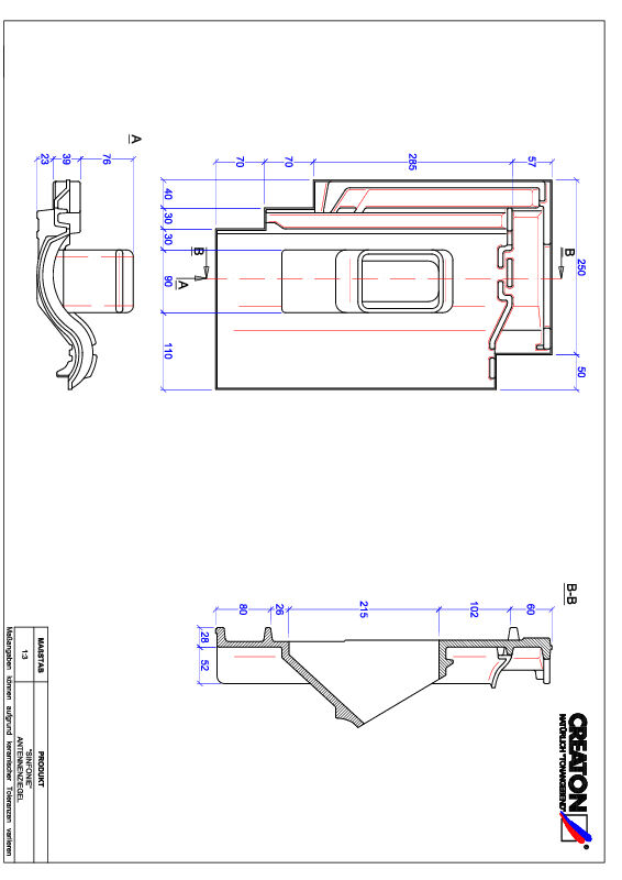 Fiser CAD produs SINFONIE Antenă ANTENNE