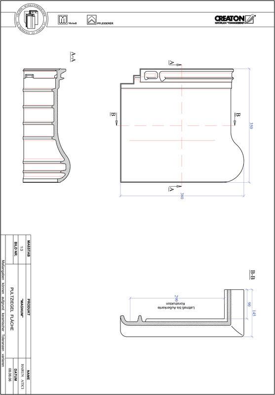 Fiser CAD produs MAGNUM Ţiglă cu versant standard  PULTFLA