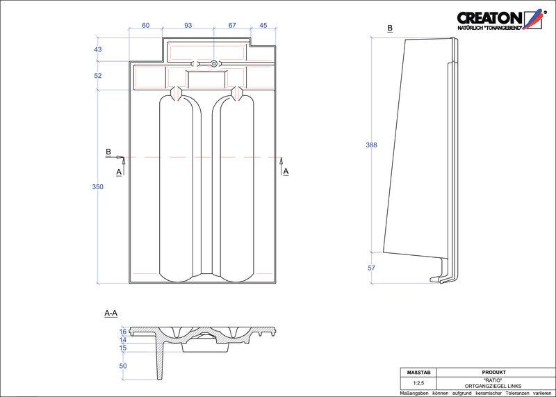 Fiser CAD produs RATIO laterală stânga OGL