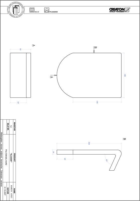 Fiser CAD produs KLASSIK decupaj rotund RUND-PULT-kurz1