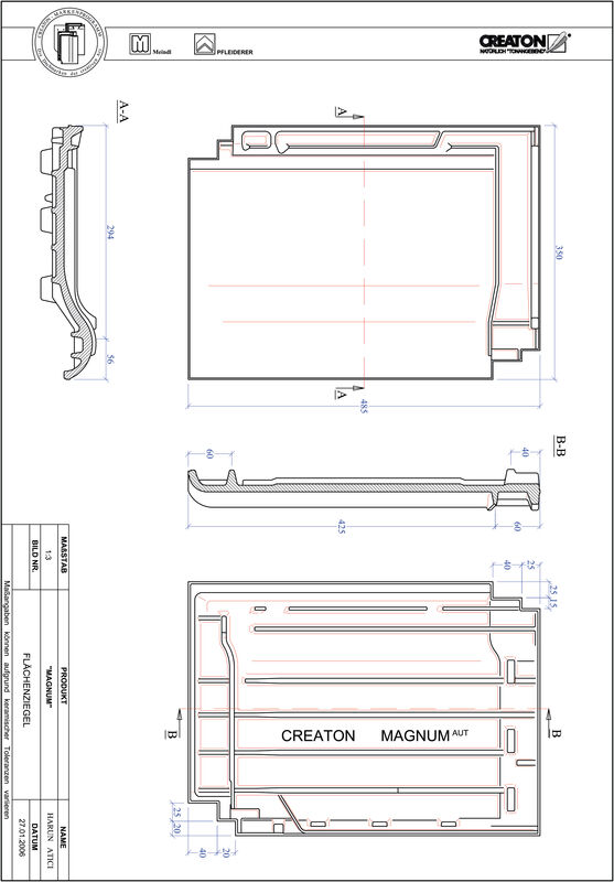 Fiser CAD produs MAGNUM Ţiglă de bază FLA