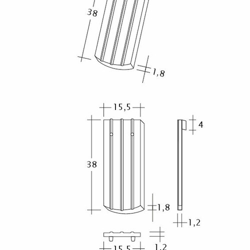 Desen tehnic produs PROFIL Kera-Saechs-15cm-1-1