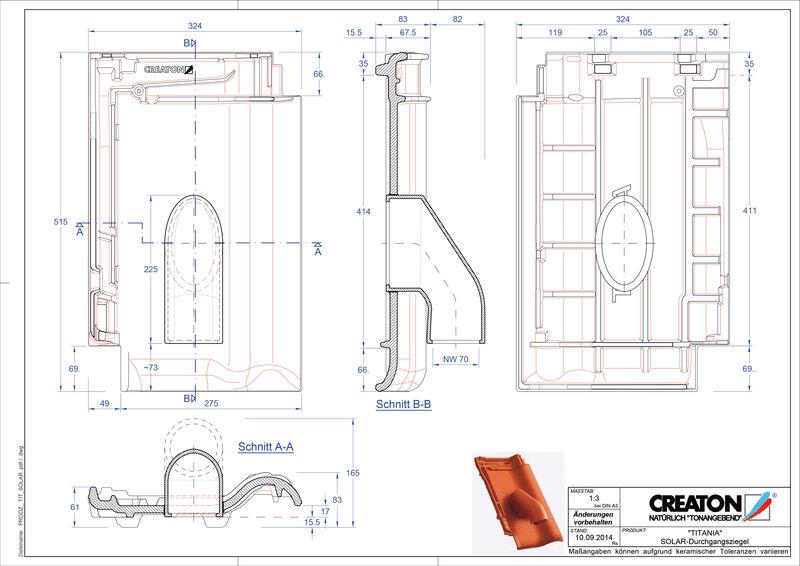 Fiser CAD produs TITANIA Solar SOLAR