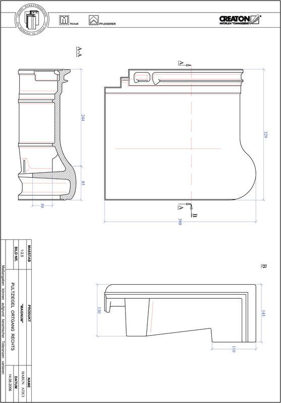 Fiser CAD produs MAGNUM Ţiglă laterală dreapta cu versant standard PULTOGR