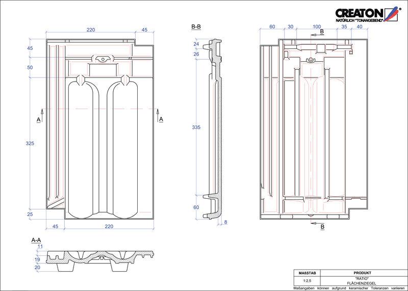Fiser CAD produs RATIO Ţiglă de bază FLA