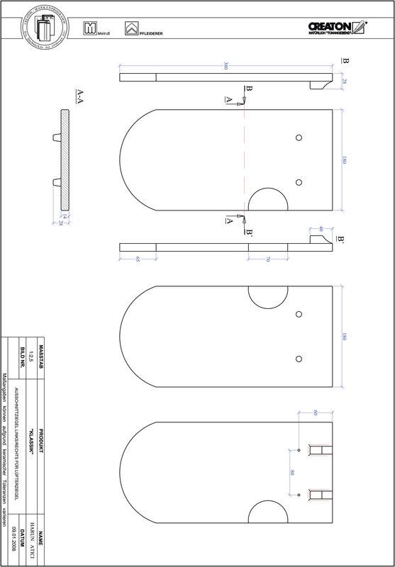 Fiser CAD produs KLASSIK decupaj rotund RUND-AUSSCHNITT-LUEFTZ