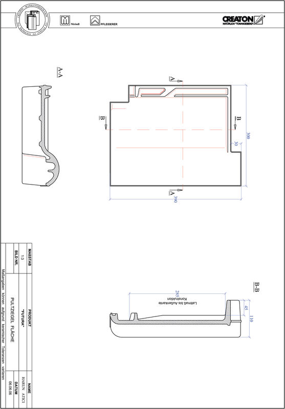 Fiser CAD produs FUTURA Ţiglă cu versant standard  PULTFLA