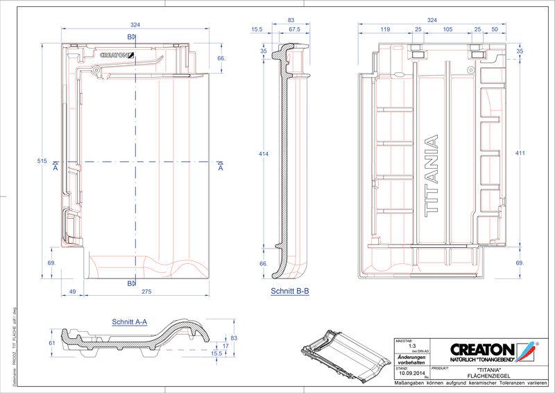 Fiser CAD produs TITANIA Ţiglă de bază FLA