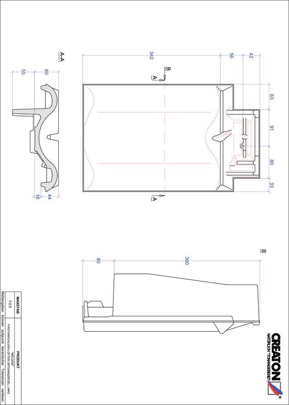 Fiser CAD produs MELODIE Ţiglă laterală de aerisire pentru conexiune la coamă  stânga FALOGL
