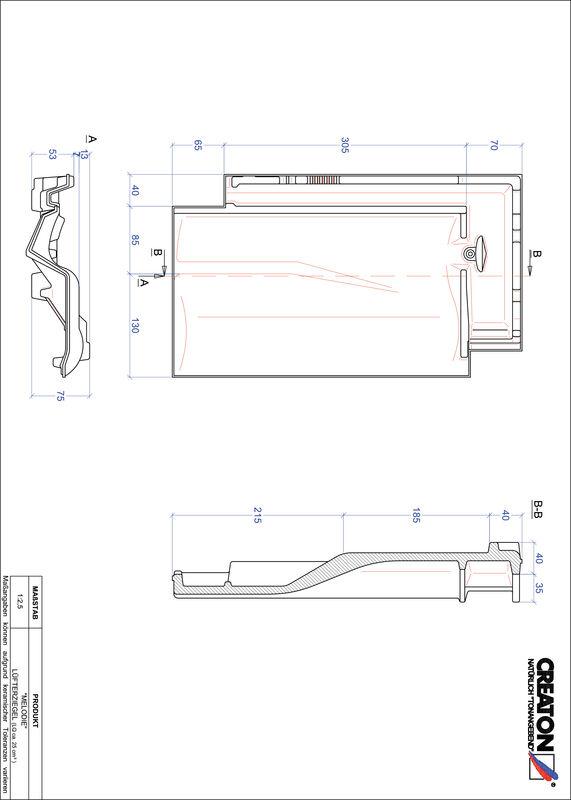 Fiser CAD produs MELODIE Ţiglă de aerisire LUEFTZ