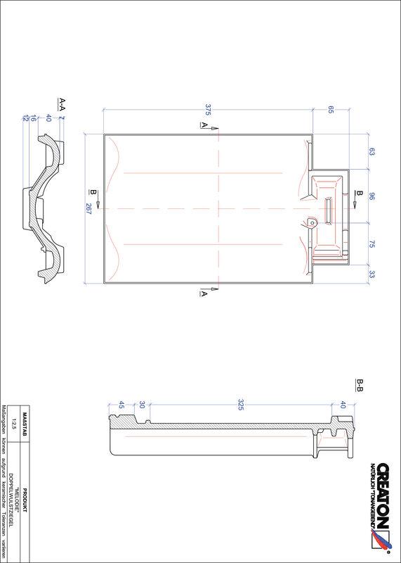 Fiser CAD produs MELODIE Ţiglă cu proeminenta dublă DWZ