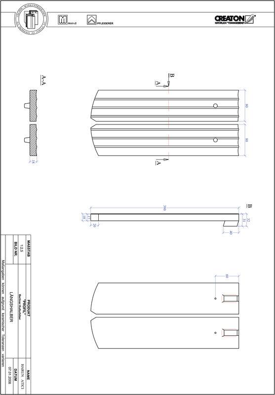 Fiser CAD produs PROFIL Taietura segment  BKBI-LH