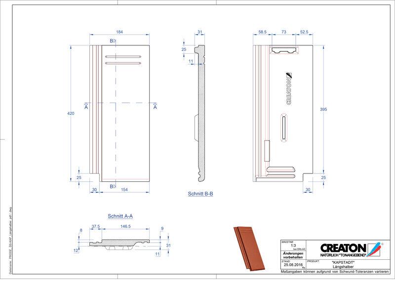 Fiser CAD produs KAPSTADT Ţiglă 1/2  Laengshalber