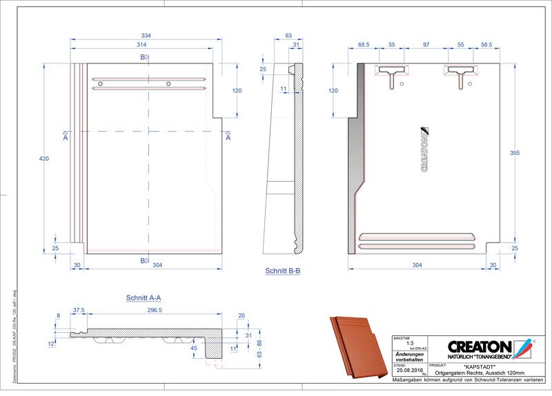 Fiser CAD produs KAPSTADT laterală dreapta OGR-120