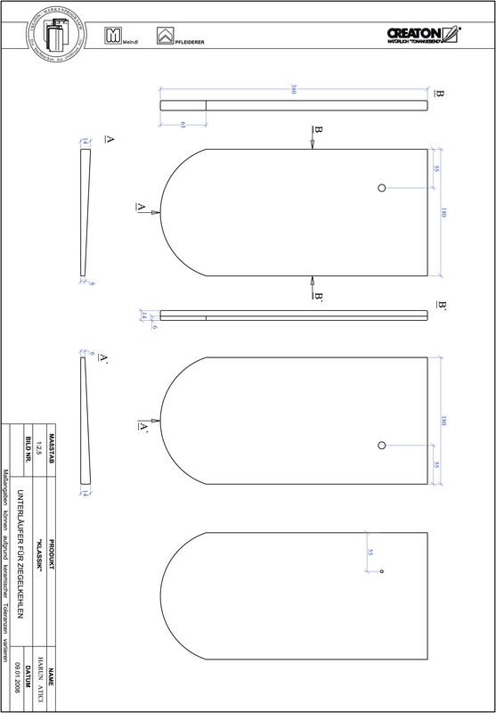 Fiser CAD produs KLASSIK decupaj rotund RUND-UNTERLAEUFER