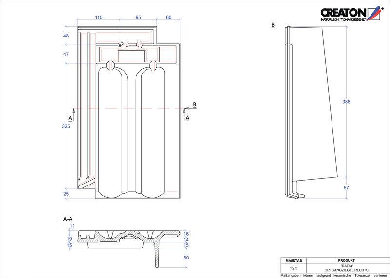 Fiser CAD produs RATIO laterală dreapta OGR