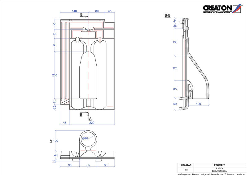 Fiser CAD produs RATIO Solar SOLAR