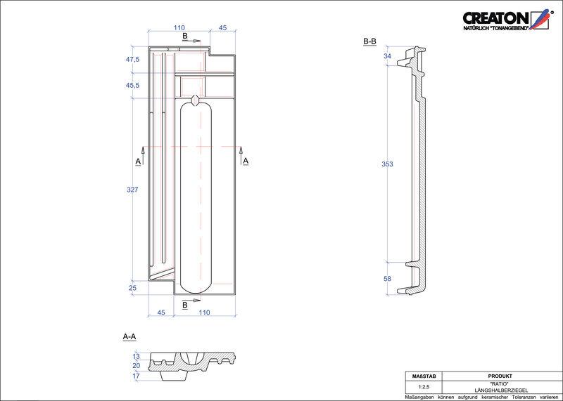 Fiser CAD produs RATIO Ţiglă 1/2  LH