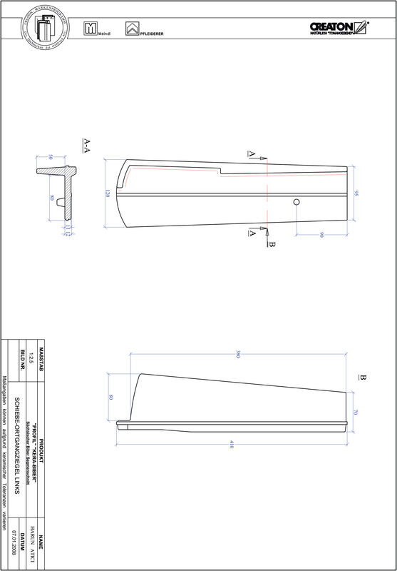 Fiser CAD produs PROFIL Taietura segment  KERA-SAECHS-18-CM-OGL