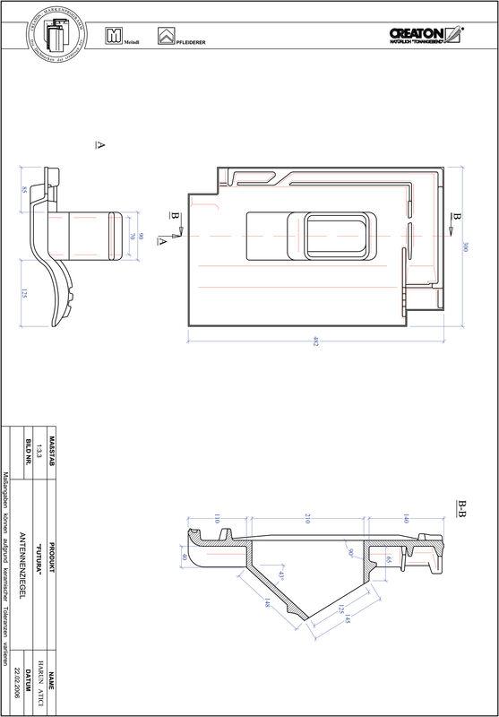 Fiser CAD produs FUTURA Antenă ANTENNE