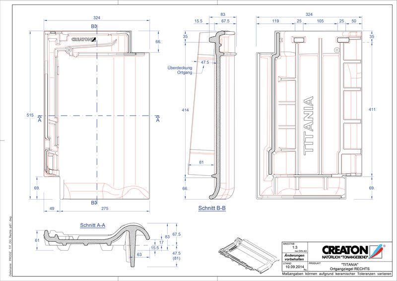 Fiser CAD produs TITANIA laterală dreapta OGR