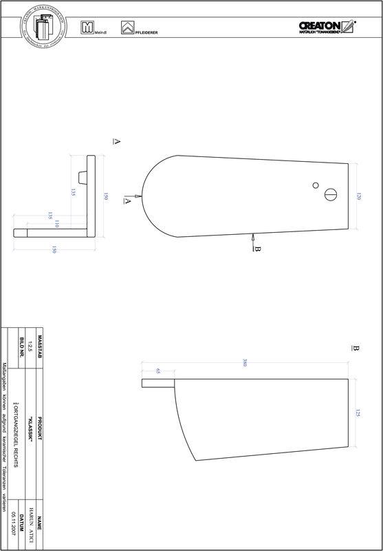 Fiser CAD produs KLASSIK decupaj rotund RUND-OGR-3-4